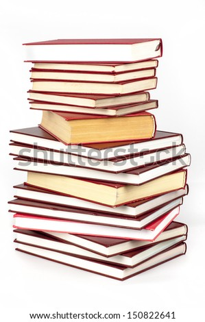 red books - stock photo