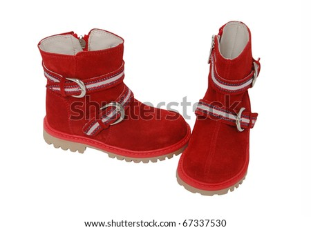 red boots - stock photo