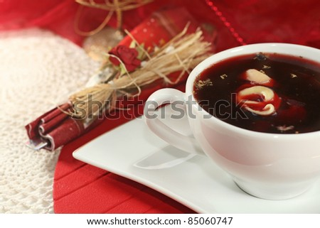 red borsch -  traditional christmas eve soup - stock photo