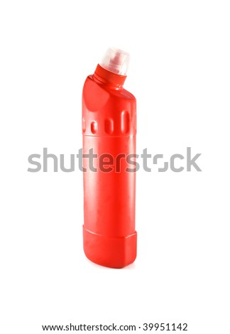 red bottle isolated on white