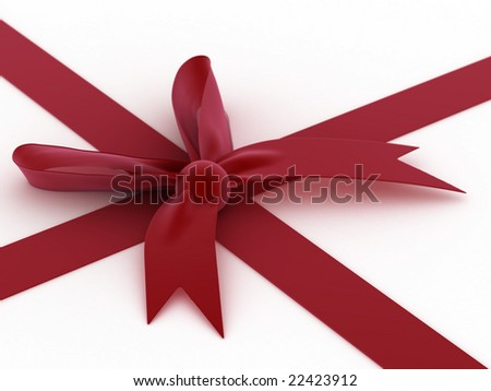 Red bow! - stock photo