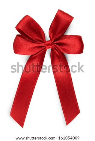 red bow - isolated - stock photo