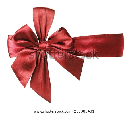 red bow isolated on the white background - stock photo
