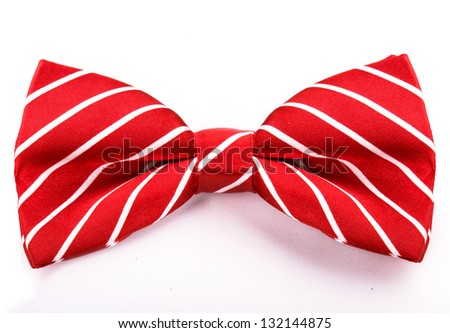 red bow isolated on white background - stock photo