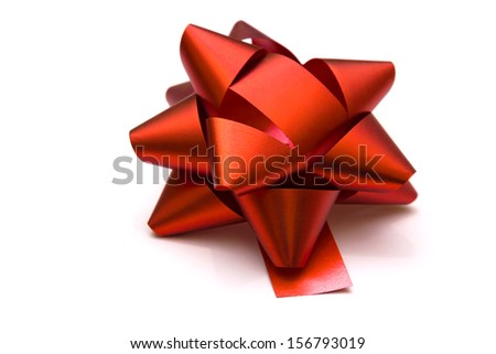 Red bow isolated on white background, Red bow, photography
