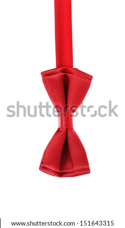 red bow tie - stock photo