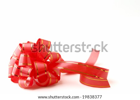 red bow with isolated background