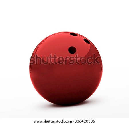 Red bowling ball - stock photo