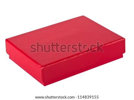 Red box - stock photo