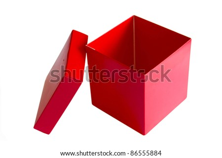 Red box - stock photo