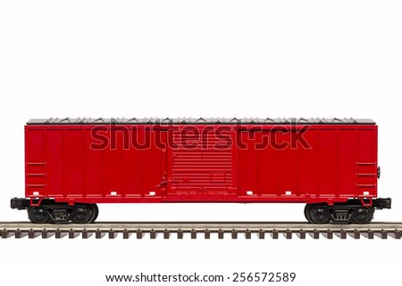 Red Boxcar - stock photo