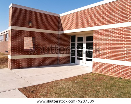 red brick building - stock photo