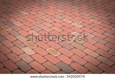 Red Brick Floor Texture Abstractbackground