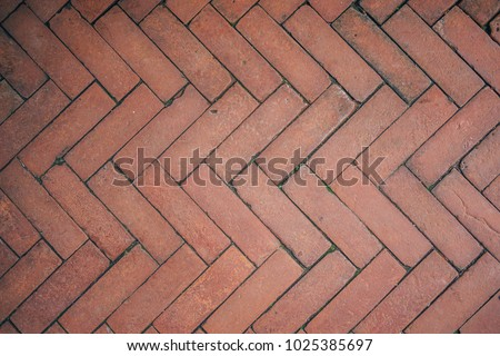 Red Brick Flooring Seamless Pattern Top Stock Photo Safe To Use 1025385697