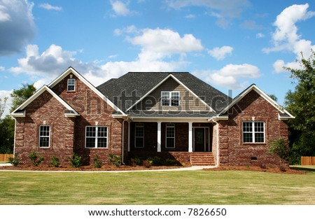 Red Brick Home - stock photo