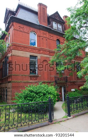 Red brick house in Brooklyn, NYC