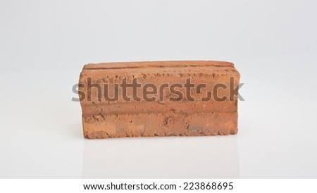 red brick on white background