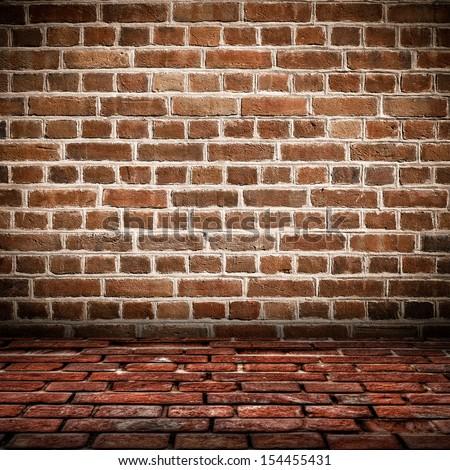 interior brick floor red brick wall stock photo 614025896 shutterstock