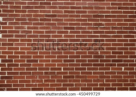 Red brick wall backdrop - stock photo
