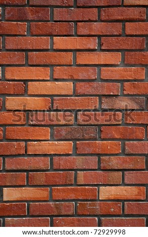 Red brick wall background. - stock photo