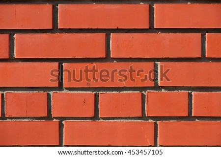 red brick wall closeup,detailed image of a brick wall,