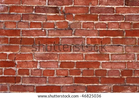Red brick wall good for background or backdrop