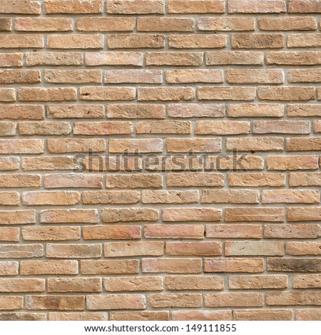 Red brick wall , Old brick wall texture background - stock photo