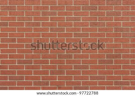 Red brick wall pattern background - stock photo