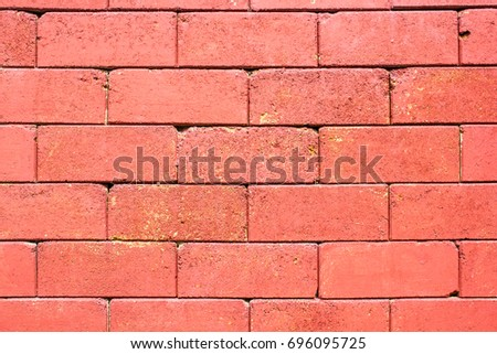 Red brick wall pattern texture background.
