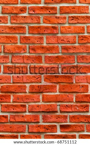 Red brick wall 100% seamless - stock photo