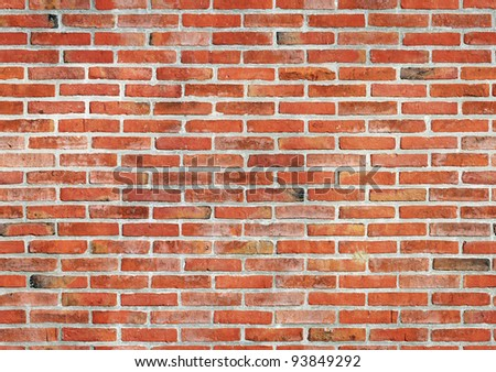 Red brick wall seamless background. - stock photo