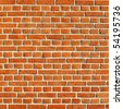Red brick wall, square format - stock photo