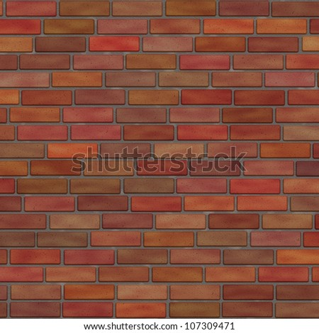 red brick wall texture - stock photo
