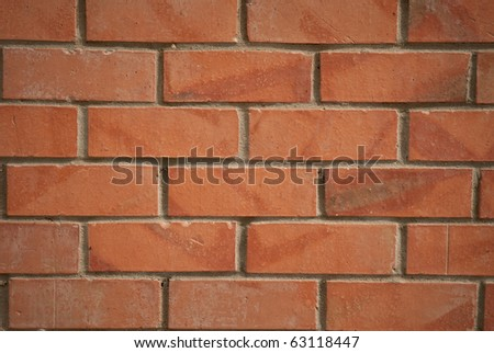 Red brick wall texture. - stock photo