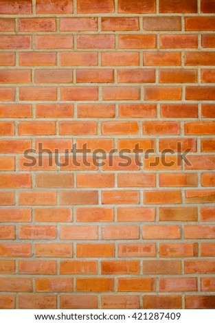 Red brick wall texture background - stock photo