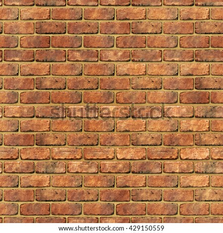 Red brick wall texture background (Tiles seamless, High-resolution 3D CG rendering illustration) - stock photo