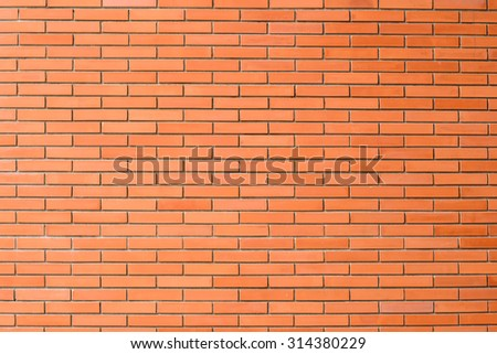 red brick wall texture in horizontal view - stock photo