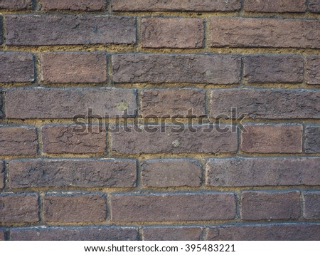 Red brick wall texture useful as a background