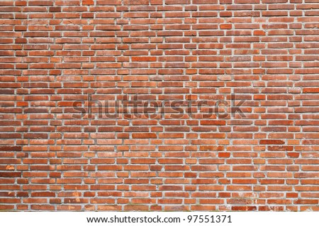 red brick wall, urban background - stock photo