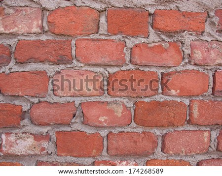 Red brick wall useful as a background