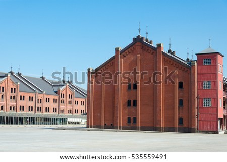 Red Brick Warehouse in yokohama, japan
