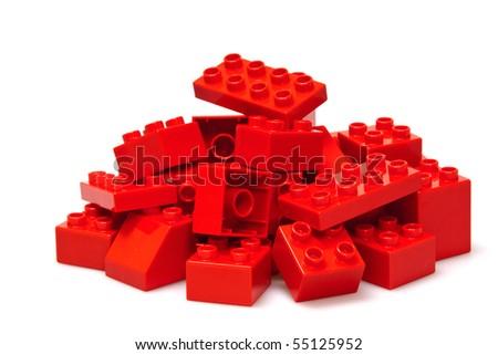 red bricks - stock photo