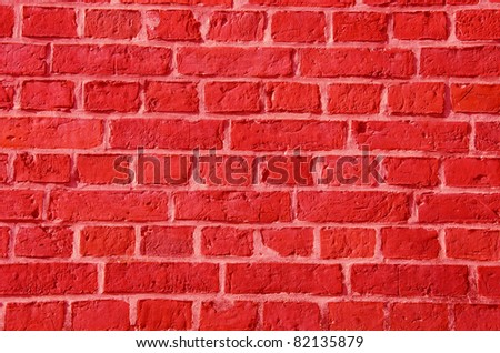 red bricks wall beautiful background and texture - stock photo