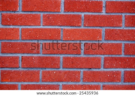 red brickwall - stock photo