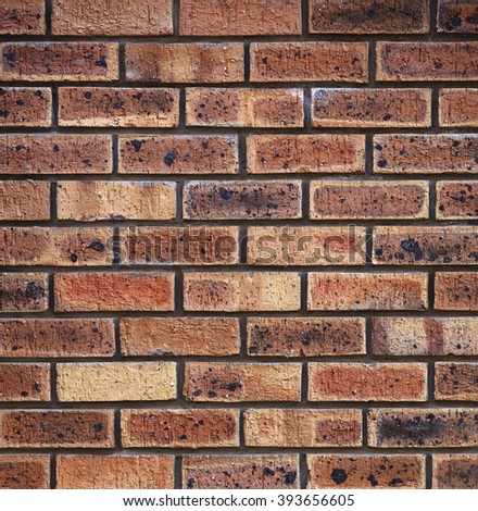 red brickwall. perfect for background. - stock photo