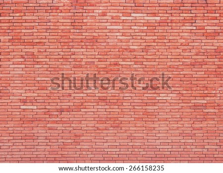Red brickwall surface for usage as a background - stock photo