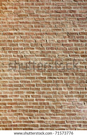 Red BrickWall Texture / Background - stock photo