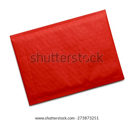 Red Bubble Envelope with Copy Space Isolated on White Background.
