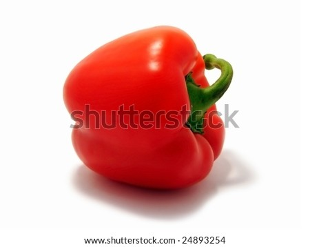 Red Bulgarian pepper - stock photo