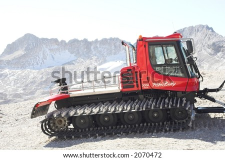 Red bulldozer - stock photo